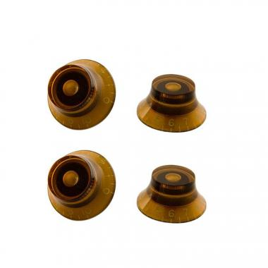 Gibson Top Hat Knobs Vintage Amber 4 pc.