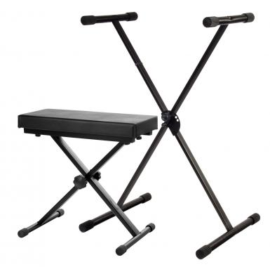 Classic Cantabile SET ECO Deluxe Keyboard Stand + keyboard bench