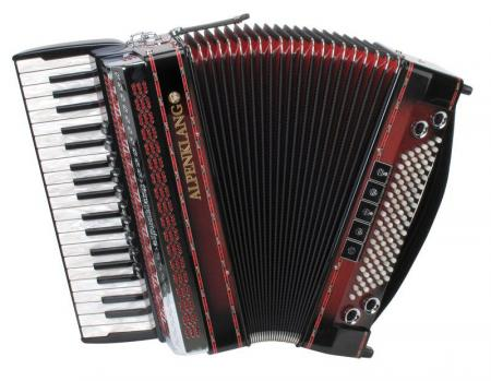 Alpenklang Pro accordeon IV/96 MHR, shadow rood