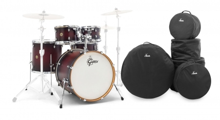 Gretsch CM1-E825-SDCB Catalina Maple Shellset Satin Deep Cherry Burst Set inkl. Gigbags