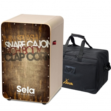 Sela SE 079 CaSela Pro Vintage Brown SET incl. Cajontasche