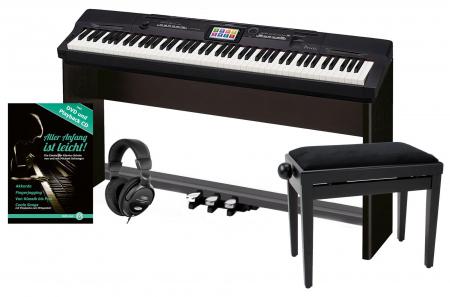 Casio Privia PX-360 MBK Digitalpiano Schwarz Deluxe SET inkl. Ständer, Bank, Kopfhörer und Schule