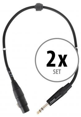 Pronomic Stage JSXF-0.5 XLR/Stereo Jack Cable 0.5m 2x Set