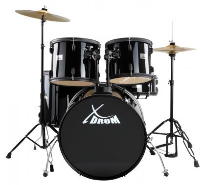 XDrum Rookie II Batteria Standard Set completo nera