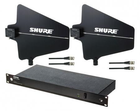 Shure UA844SWB/LC-E UA874-WB Splitter/Antennen SET