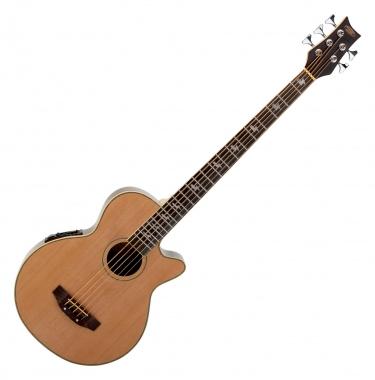 Classic Cantabile AB-50 NT Akustikbass 5-Saitig, Natur mit Preamp