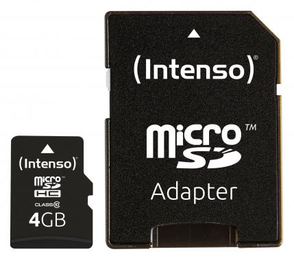 Intenso Micro SD Card 4 GB Class 10