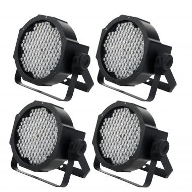 Showlite FLP-144 Proiettore Faro Flatline LED 144x 10 mm set 4 pezzi