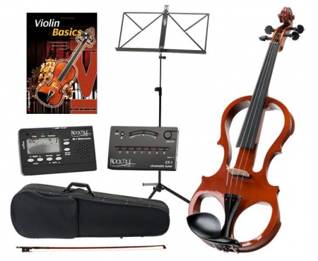 Classic Cantabile EV-81 electric violin set incl. accessories