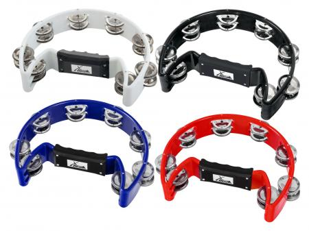 XDrum TM-1 Hand Tambourine, Multicolor Set 4-pack