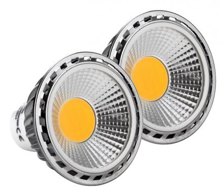 2x SET Showlite LED spot GU10W05K30N 5 Watt, 330 Lumen, socle GU10, 3000 Kelvin