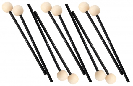 XDrum MM3 xylophone/vibraphone wood, 5 pairs of wooden ball, wooden handle, even for Glockenspiel