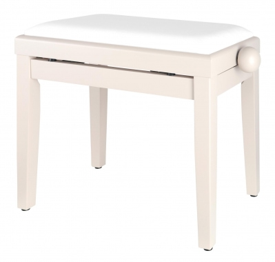 Classic Cantabile Piano Bench White Matte Ash