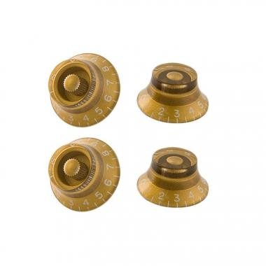 Gibson Top Hat Knobs Gold 4 pc.