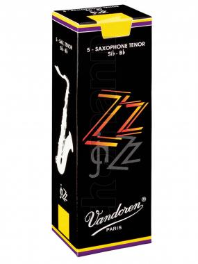 Vandoren 5er Pack Blätter Tenorsaxophon ZZ Stärke 2,5