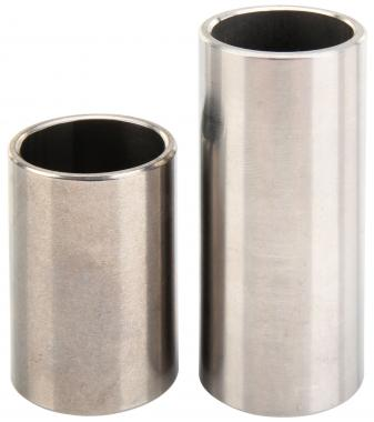 Rocktile steel slide (bottleneck) pair consisting of 4cm and 6cm length