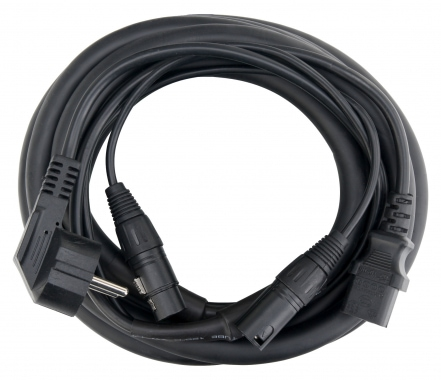 Pronomic Cable híbrido de alimentación / audio XLR 6 m