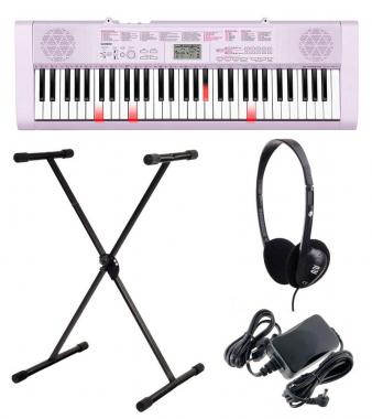 Casio LK-127 Leuchttasten Keyboard SET inkl. Kopfhörer, Ständer und Netzgerät