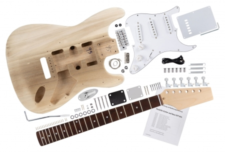 Rocktile DIY Kit de construction guitare électrique style ST