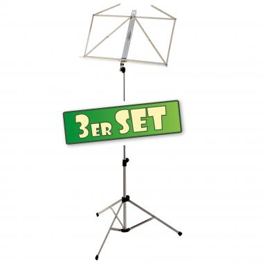 Lot de 3 Classic Cantabile Stand de Notes Mi-Lourd