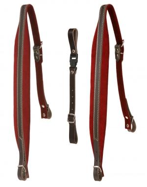 Alpenklang bretelles pour harmonica à 4 rangées - rouge