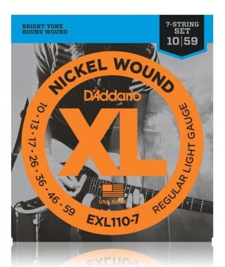 D'Addario EXL110-7 Regular Light 7-string