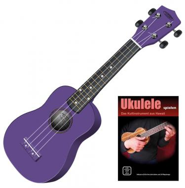 Classic Cantabile US-100 VT Sopran-Ukulele violett Set inkl. Lernheft + CD
