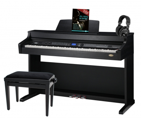 Classic Cantabile DP-A 410 SM digital piano, matte black set incl. bench, headphones
