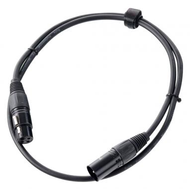 Pronomic stage XFXM-1 microphone cable XLR 1 m black