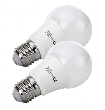 2x SET Showlite LED lamp  G60E27W06K30N 6 Watt, 480 Lumen, sokkel E27, 3000 Kelvin