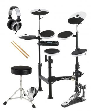 Roland TD-4KP V-Drum Portable E-Drum SET inkl. Kopfhörer + Hocker + Fußmaschine + Sticks