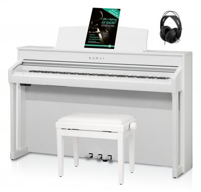Kawai CA 98 W Digital Piano Weiß Set inkl. Pianobank, Kopfhörer & Schule