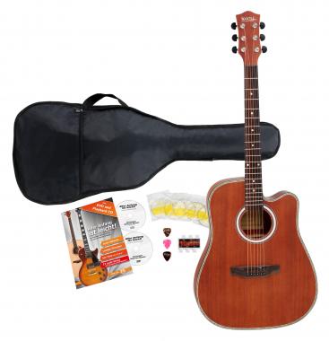 Set de guitarra acústica Rocktile WSJ 400S Jumbo sapeli