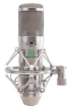 Pronomic CM-414 Large Double Membrane Studio Microphone incl. Spider & Windscreen