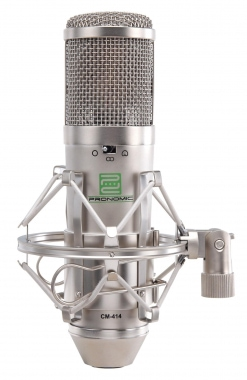 Pronomic CM-414 Studio microphone condensateur à double membrane incl. suspension & filtre anti pop