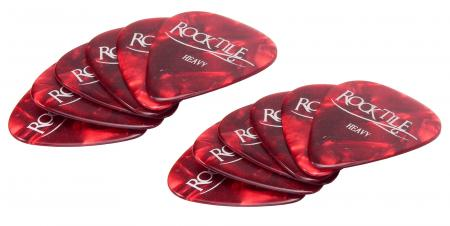 12 Stück Original Rocktile Plektren Red Heavy