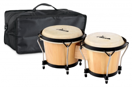 XDrum Bongo Club Standard Natural SET incl. Bongo carrying bag