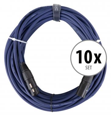 Pronomic Stage DMX3-20 DMX cable 20 m 10x set