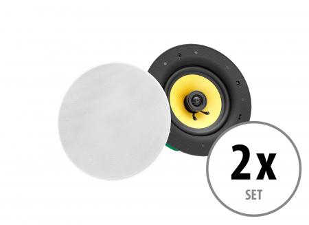 Set of 2 Pronomic CLS-540 WH 2-way high-end tissue built-in loudspeakers 160 Watt