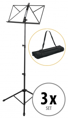 Set of 3 Kirstein music stand solid, heavy design