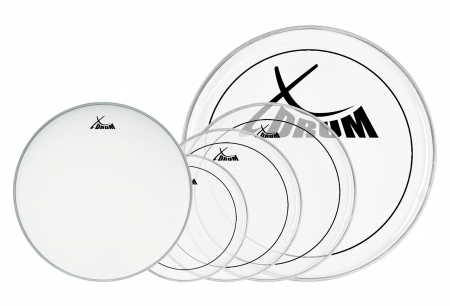 "XDrum Oil Hydraulic Drum Head Set 10"" 12"" 14"" 20"" + 14"""