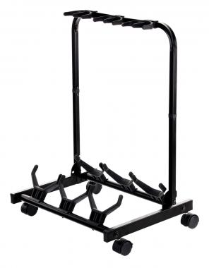 Rocktile Triple Multi Guitar Stand With Wheels For Electric And Acoustic Guitars
