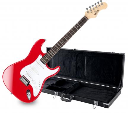 Shaman Element Series STX-100R E-Gitarre Rot SET inkl. Koffer