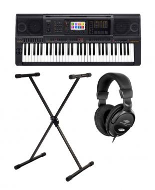 Casio MZ-X 300 Keyboard SET mit Kopfhörer und Keyboard-Ständer
