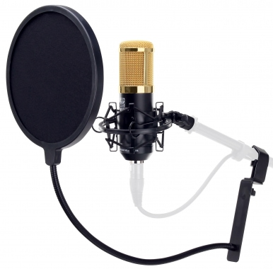 Pronomic CM-100BG large-diaphragm studio microphone & pop filter