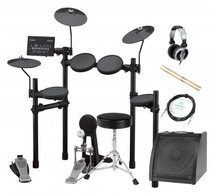 Yamaha DTX432K Compact E-Drum Set inkl. Verstärker, Kopfhörer, Drumhocker & Sticks