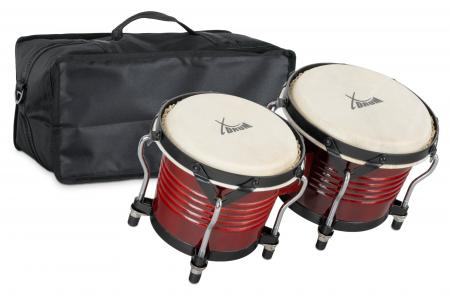 XDrum Bongo Pro Wine Red SET incl. Bongo carrying bag