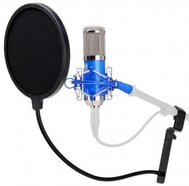 Pronomic CM-100B  large-diaphragm studio microphone & pop filter
