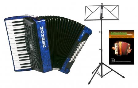 Hohner Bravo III 72 silent key blau SET