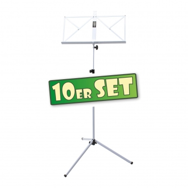 SET of 10 Classic Cantabile 100 Music Stand, White